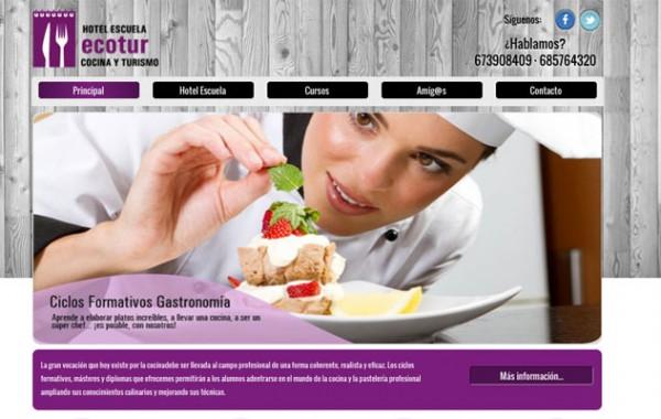 Web para una escuela de cocina