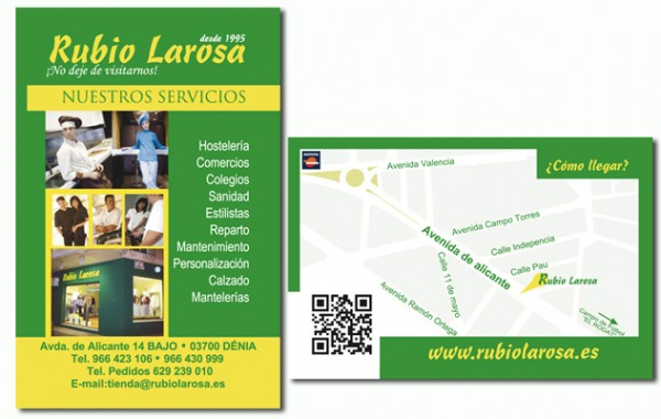 Tarjetas de visita Rubio Larosa (Dénia)
