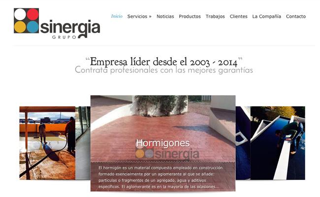 Web Grupo Sinergia