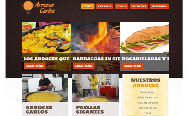 Arroces Carlos estrena web