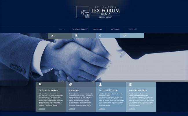 Nueva web de Fundación Lex Forum
