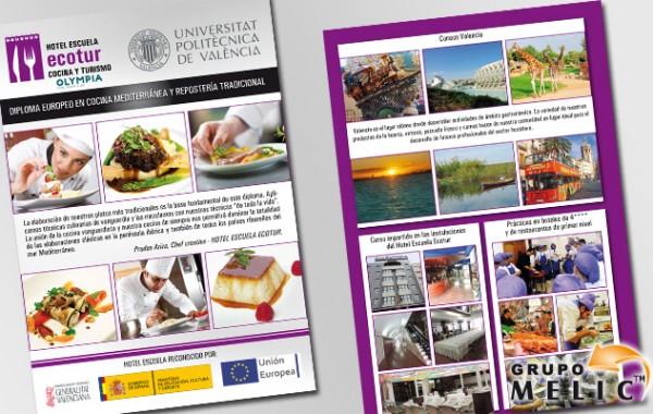 Flyer escuela de cocina y turismo ECOTUR