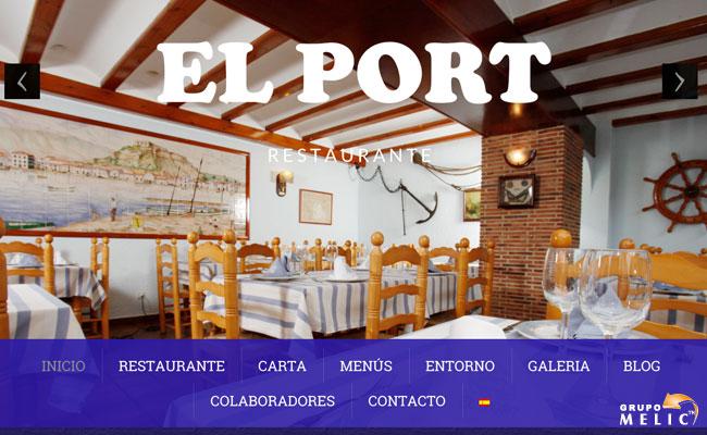 Web Restaurante El Port Dénia