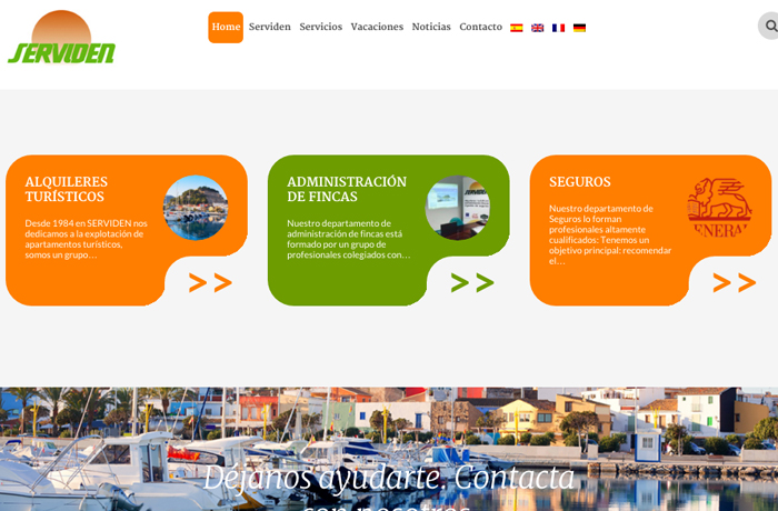 Nueva web de Serviden