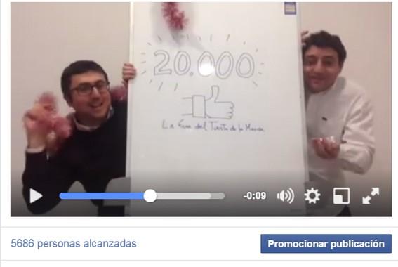 Así celebramos nuestros 20.000 seguidores