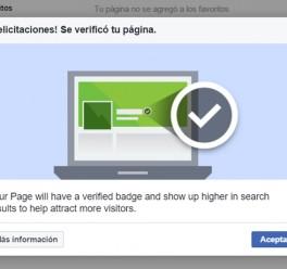 ¿Tienes tu página de facebook verificada?