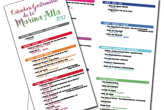 Calendario gastronómico comarcal