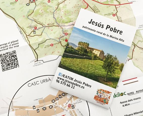 Plano de rutas de Jesús Pobre